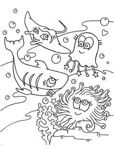 awesome coloring page ocean free download
