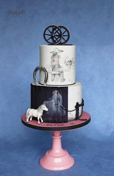 With horses - http://cakesdecor.com/cakes/303933-with-horses