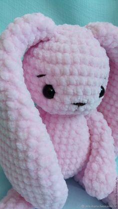 Crochet Teddy Bear Pattern, Crochet Rabbit, Crochet Patterns, Love Crochet, Crochet For Kids, Crochet Baby, Knitted Stuffed Animals, Blanket Yarn, Bunny Plush