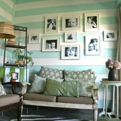Seriously consdering painting my backporch like this!/love the way the pictures are arranged
