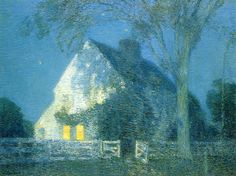 Moonlight, the Old House - Childe Hassam 1906