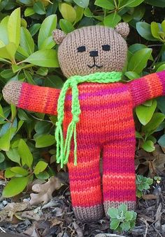Ravelry: pmack17's Mother Bear #34 Cayenne Knitting For Charity, Baby Hats Knitting, Hand Knitting, Knitting Patterns, Knitted Dolls, Knitted Hats, Mother Bears, Knitted Teddy Bear, Toys For Tots
