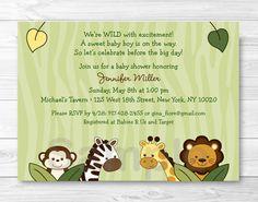 Jungle Animal Baby Shower Invitation / Jungle Animal Baby Shower / Safari Baby Shower / Safari Friends / Baby Boy Shower / PRINTABLE