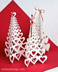 Ashbee Design Silhouette Projects: 3D Valentine Tree