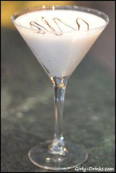 Polar Bear Martini: 1.5 oz. vanilla vodka; .5 oz. Frangelico; .5 oz. white chocolate liqueur<3