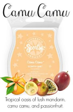 Camu Camu Place Your Order Today at: http://danielawattsxo.scentsy.us Follow Me on FaceBook for new products, sales,  and even FREE samples! at: https://www.facebook.com/danielawattsxoscents