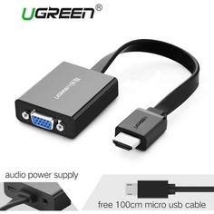 Ugreen HDMI to VGA adapter Digital to Analog Video Audio Converter Cable hdmi vga #hdmi #connector #vga #computer  https://seethis.co/yynYJ4/