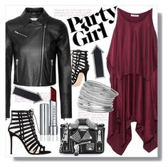 """Party"" by cilita-d ❤ liked on Polyvore featuring Gianvito Rossi, Elizabeth and James, Moschino, Miss Selfridge and Dot & Bo"