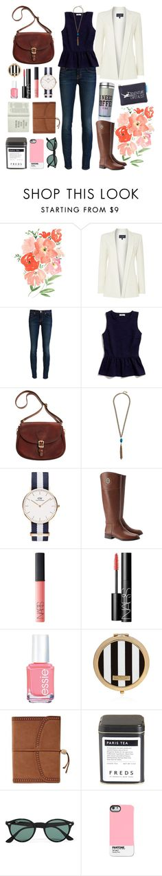 """""""35 // i'm not the flawless one, i've never been (but i have my moments)"""" by save-rock-and-roll ❤ liked on Polyvore featuring Armani Jeans, J Brand, Victoria's Secret, Madewell, J.W. Hulme Co., Lucky Brand, Tory Burch, NARS Cosmetics, Essie and Henri Bendel"""