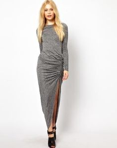 774ede842ae8 River Island Jersey Ruched Side Maxi Dress at asos.com