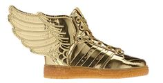 The Latest adidas Originals by Jeremy Scott Shoe Boasts the Midas Touch #sneakers trendhunter.com