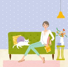 Chie Katayama illustration #illustration #draw #art #cat #イラスト #イラストレーション Beautiful Artwork, Cat Art, Disney Characters, Fictional Characters, Kids Rugs, Disney Princess, Projects, Prints, Artworks