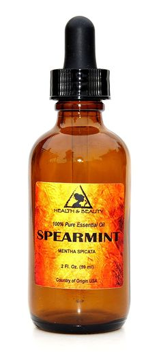 Spearmint Essential Oil Organic Aromatherapy Therapeutic Grade 100 Pure Natural 2 oz 59 ml with Glass Dropper Spearmint Essential Oil, Lime Essential Oil, 100 Pure Essential Oils, Amber Glass Bottles, Perfume Bottles, Essential Oil Shelf, Organic Soap, Aromatherapy Oils, Peppermint