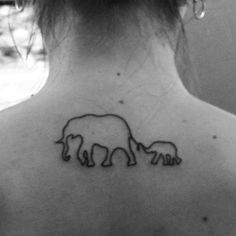 My mother daughter tattoo with elephants :-) '63 in the bigger one, '95 in the other One day long long time from now lol