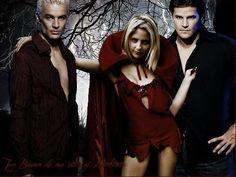 Buffy the Vampire Slayer promo photo: Spike, Buffy and Angel