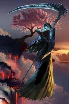 Death Reaper, Grim Reaper Art, Grim Reaper Tattoo, Don't Fear The Reaper, Gothic Fantasy Art, Fantasy Artwork, Gothic Images, Assassins Creed Art, Ghost Rider Marvel