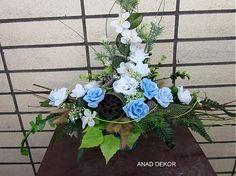 Dekorácia v modrom poháriku-predané