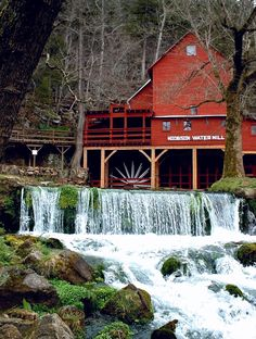 Hodgson Water Mill by John Foster  Located in Sycamore, Missouri (Ozark County). In the hills on Hwy 181.
