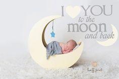 Newborn photo session Moon prop Long Island photographer Newborn boy Studio photography Half pint photography New York