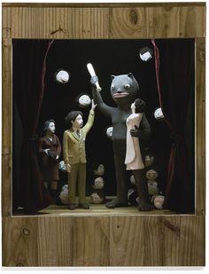 dzama, marcel first born Mixed Media Sculpture, Art Sculpture, Sculptures, Shadow Box Kunst, Shadow Box Art, Inspirational Artwork, Cinematic Photography, Sewing Art, Assemblage Art