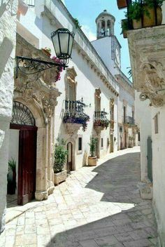 Let's take a walk. Locorotondo, Apulia, Italy