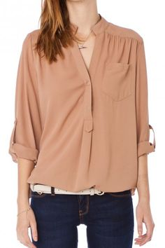 Pure Colora Blouse in Nude  Despite the racist colour label, this looks like my jam.