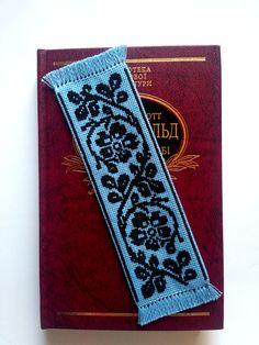 Blue & black bookmark Bookmarks handmade, book lover gift, embroidered bookmark, bookmark for girlfriend, bookworm gift, unique bookmark, bookmark gift, Ukrainian gift, Ukrainian embroidery, Ukraine