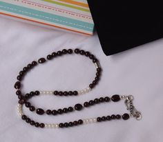 Garnets / Pearls & Sterling Silver merge into an Exquisite Necklace !!