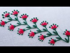 hand embroidery stitches and designs Basic Embroidery Stitches, Hand Embroidery Videos, Embroidery Materials, Hand Embroidery Flowers, Hand Work Embroidery, Embroidery Patterns Free, Learn Embroidery, Crewel Embroidery, Hand Embroidery Designs