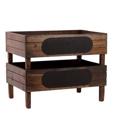 Take a look at this Large Wooden Storage Box - Set of Two by Urban Trends Collection on #zulily today!