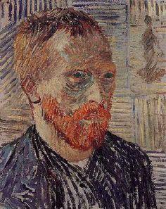 """Self-Portrait with a Japanese Print"".Vincent van Gogh Painting, Oil on Canvas Paris: December, Basel Museum fur gegenwartskunst Basel, Switzerland, Europe. Van Gogh Pinturas, Van Gogh Portraits, Van Gogh Self Portrait, Vincent Van Gogh, Henri De Toulouse Lautrec, Paul Gauguin, Basel, Van Gogh Arte, Artist Van Gogh"