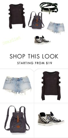 """""""Melinoe #1"""" by alptraum ❤ liked on Polyvore featuring Ksubi, Victoria's Secret PINK and Converse"""