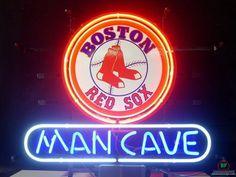 Man Cave Boston Red Sox Neon Sign MLB Teams Neon Light