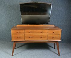 Vintage dressing table by Alfred Cox for Handcraft, mid-century, 1950s.