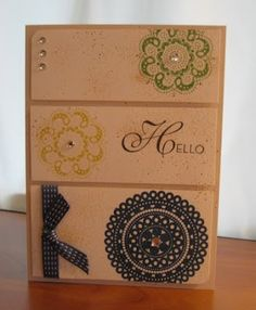 Stampin' in the Sand: Lacy and Lovely with Midnight Muse Stitched Satin ...
