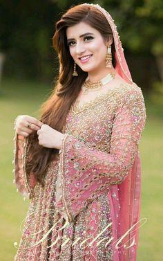 Zara ❤️❤️ Asian Wedding Dress Pakistani, Pakistani Bridal Makeup, Bridal Mehndi Dresses, Indian Wedding Gowns, Bridal Dress Design, Wedding Dresses For Girls, Bridal Outfits, Pakistani Dresses, Pakistani Engagement Dresses