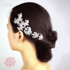 Wholesale In stock Crystal metal six butterfly wedding bridal party hair accessory hair comb jewellery, Free shipping, $16.8-23.52/Piece | DHgate