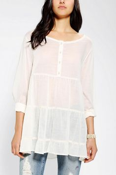 Ecote Tiered Breezy Babydoll Tunic