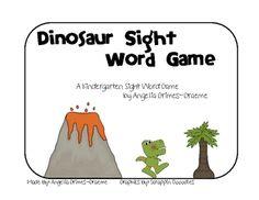 Dinosaur sight word game.