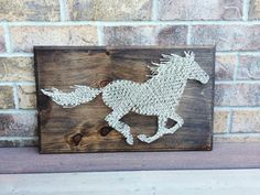 "String Art - Rustic Horse I'm adding new pieces all the time. Available as a ""made to order"" on my Etsy shop NailedITCA"