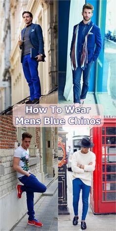 mens blue chinos