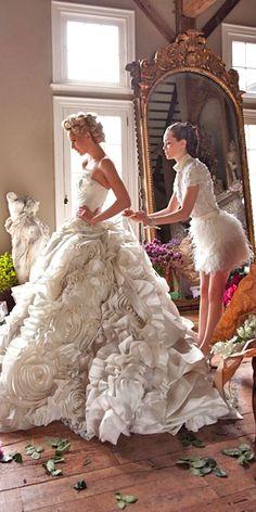 floral applique wedding dresses via liz von hoene - Deer Pearl Flowers / http://www.deerpearlflowers.com/wedding-dress-inspiration/floral-applique-wedding-dresses-via-liz-von-hoene/