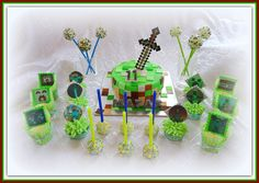 Minecraft themed confectionery..