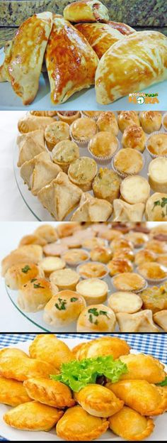 Yummy Snacks, Yummy Food, Tea Party Sandwiches, Wedding Appetizers, Portuguese Recipes, Appetisers, Empanadas, Finger Foods, Food Hacks