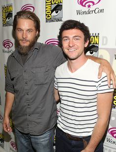 Travis Fimmel and George Blagden Photo - Living The Vikings Panel for HISTORY at WonderCon