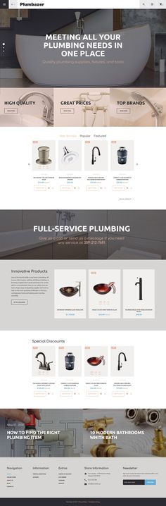Plumbing Responsive VirtueMart Template #62506