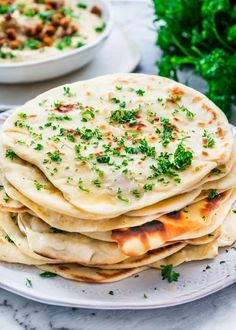 Nothing is better than homemade bread and that applies to this Indian-style Naan Bread, so simple to make, yet so delicious! #naan