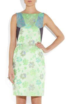 Matthew WilliamsonPaneled floral brocade dress