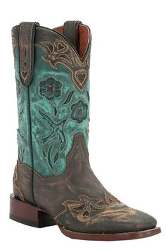 Dan Post Women's Copper Blue Bird Cowgirl Boots