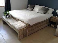 Afbeeldingsresultaat voor achterwand bed hout